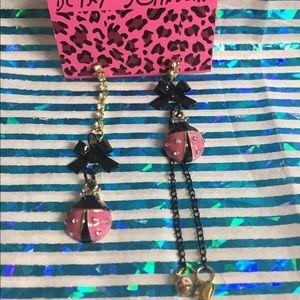 Betsey Johnson ladybug earrings